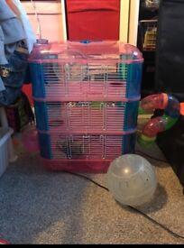 3 tier dwarf hamster cage