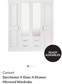 4 door 4 drawer Consort Dorchester mirrored Wardrobe