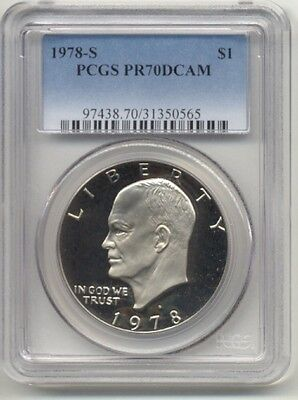 Click now to see the BUY IT NOW Price! 1978 S DWIGHT D. IKE EISENHOWER PROOF DOLLAR $1 PCGS PR70 DCAM BLUE LABEL 50565