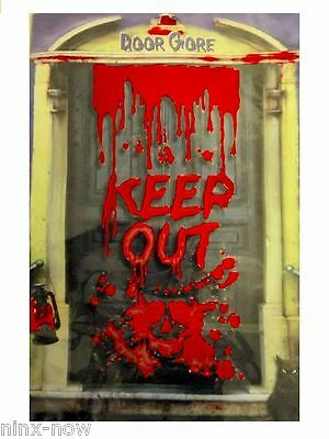 Halloween Dungeon Scene Setters (Door Gore Bloody Keep Out Scene Setter Halloween Party Decoration size 85)