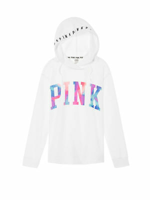 New VICTORIA'S SECRET PINK Tie Dye Oversized Crossover Tunic Hoodie Great Gift