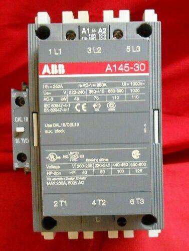ABB 3 PH CONTACTOR  A145-30-11-84 110V