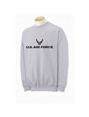 US AIR FORCE CREWNECK SWEATSHIRT GREY -