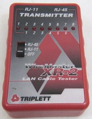 Triplett Wiremaster Xr-2 3254 Lan Cable Tester Transmitter - Free Shipping