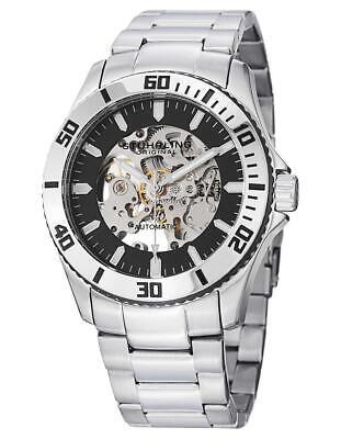 Stuhrling 773 01 4 Regatta Antilles Automatic Skeleton Dial Resized Mens Watch