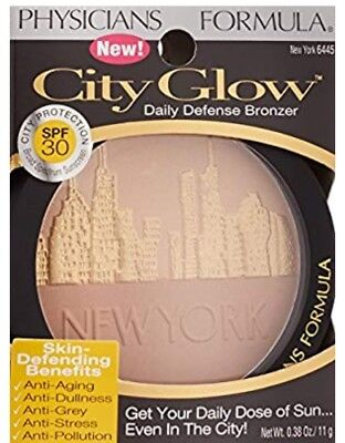 Physicians Formula New York City Glow Daily Defense Bronzer Spf 30 New In Box