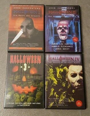 DVD Sammlung Halloween Filme 1 2 3 4
