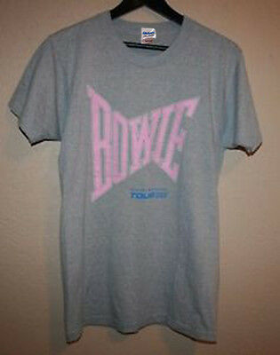 David Bowie Concert Gildan T Shirt Serious Moonlight Tour 1983 Screen Star