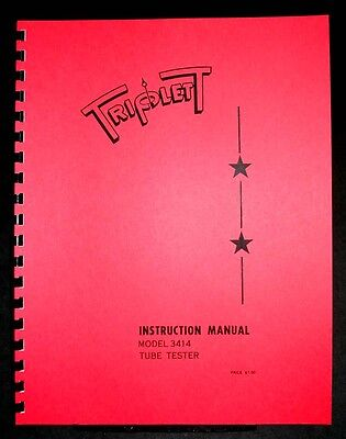 Triplett Tube Tester 3414 Manual