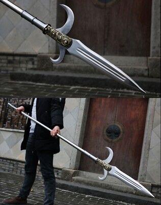 Hook sword kamayari Spear pike lance Halberd High manganese steel Spearhead #056