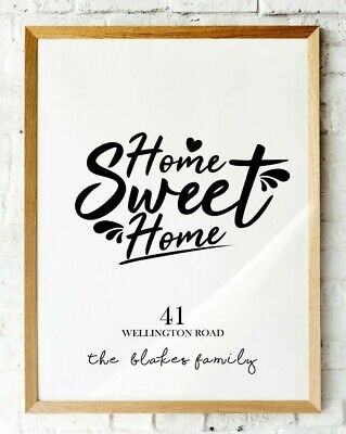 New Home Gift, First Home, Home sweet Home, Personalised House Warming  Print