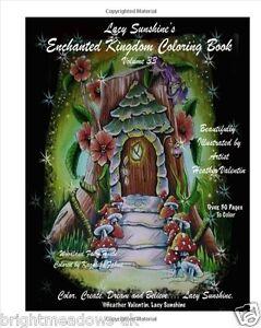 Lacy Sunshine Enchanted Kingdom Adult Colouring Book Fantasy Fairies Dragons
