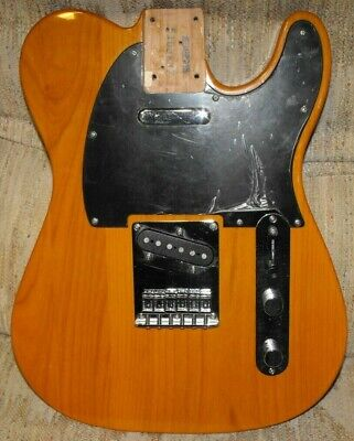 FENDER TELECASTER PREWIRED COMPLETE BUTTERSCOTCH BODY BLACK PICKGUARD NEAR MINTY