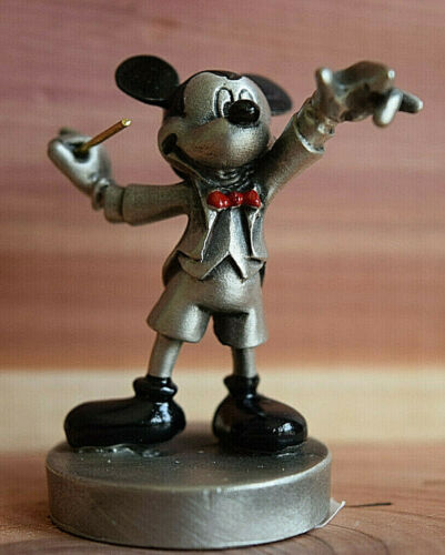 Disney Hudson Fine Pewter Mickey Mouse Music Conductor New MINT Condition