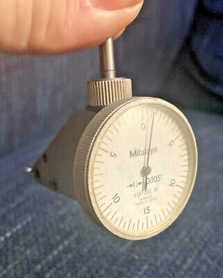 Mitutoyo 513-252 Vertical Dial Test Indicator .0005 0-15-0 Machinist Tool Maker