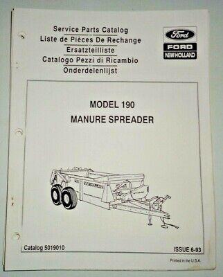 New Holland 190 Manure Spreader Parts Catalog Manual Book Nh Oem