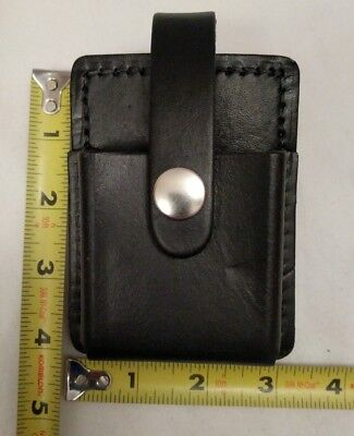 1 Nos Leather Fire Police Handcuff- Glove Pouch Electronics Pager Phone Clip