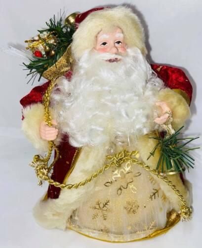 Santa+Claus+Fibre+Optic+Father+Christmas+Ornament+19cm