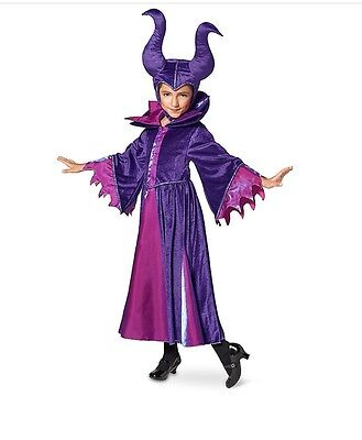 DISNEY STORE Maleficent COSTUME For Kids 5/6/7/8/9/10 Horns Halloween