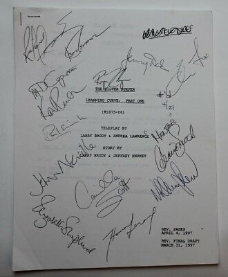"""SILVER SURFER / 1997 TV Script, REAL AUTOGRAPHS BY CAST """"Learning Curve: Part 1"""""""