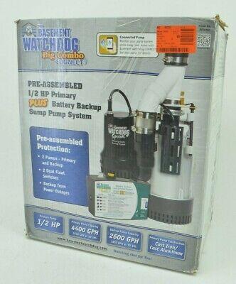 Basement Watchdog 12 Hp Big Combination Unit W Special Backup Sump Pump System