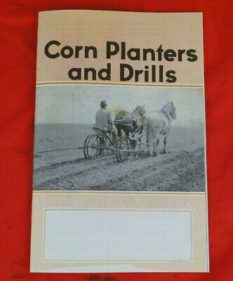 30s Ih Mccormick-deering Corn Planter Brochure Dealer Mailer W Seed Plate List