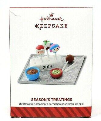 RARE NEW 2014 HALLMARK SEASON'S TREATINGS PLATE OF GOODIES CHRISTMAS ORNAMENT