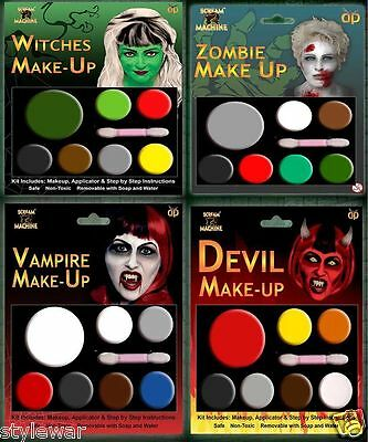 Scary Witch Makeup (MULTI PALLETS HALLOWEEN DEVIL ZOMBIE WITCH VAMPIRE MAKEUP HALLOWEEN SCARY)