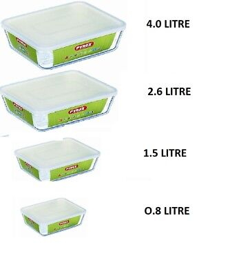 Pyrex Cook& Store Food Rectangular Baking Storage Serving  Dish with Plastic Lid