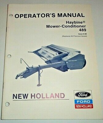 New Holland 489 Haybine Mower Conditioner Operators Maintenance Manual Original