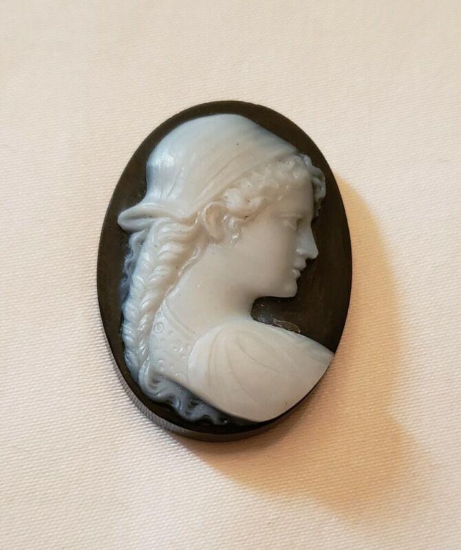 Onyx stone unmounted cameo