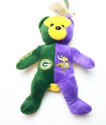 Nfl Team Bear (NFL Inaugural game  team beans authentic bear - Packers vs Vikings Sept 2003  )