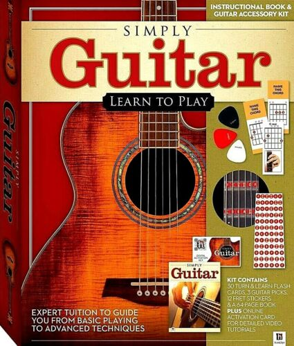 """Simply Guitar """"Learn To Play"""" ( Instructional Book and Guitar Accessory)"""