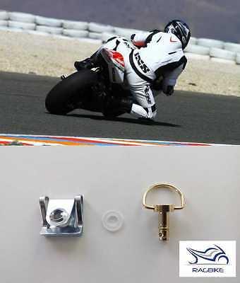 Schnellverschluss SILBER 1/4 Drehverschlüsse Motorrad Fastener 16 mm lang