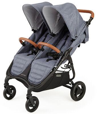 Valco Baby Snap Duo Trend Lightweight Twin Baby Double Stroller Denim NEW 2018 for sale  Norwalk