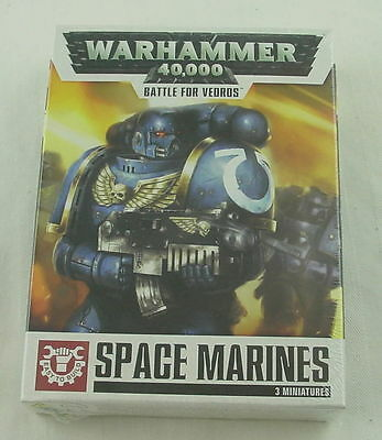 Warhammer 40,000 40K Battle for Vedros Space Marine Miniatures GAW20-04 (3pcs)