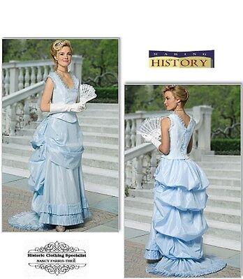 BUTTERICK 1800s Victorian Bustle Dress TOP SKIRT COSTUME PATTERN B5696 SIZE 8-20 - 1800 Dress Costume