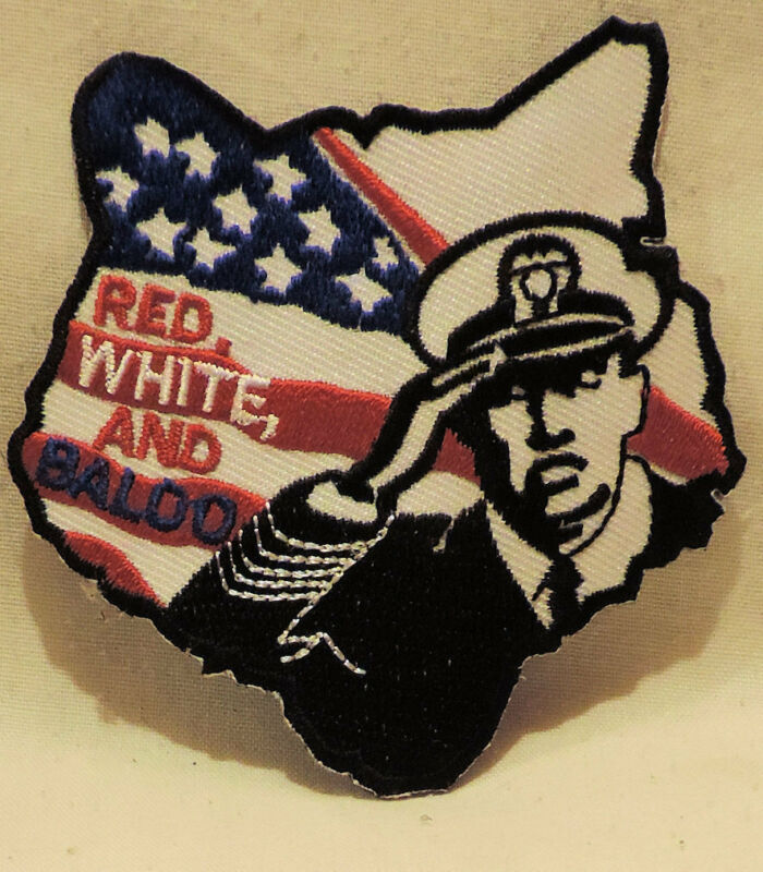 #41- RED WHITE AND BALOO patch