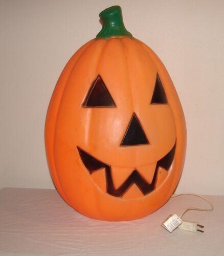 "Vintage Halloween Pumpkin Jack-O-Lantern Blow Mold 23"" General Foam Plastics"