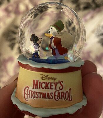 "Scrooge McDuck Disney Mickey's Christmas Carol Mystery MINI Snow Globe 2"" No Box"