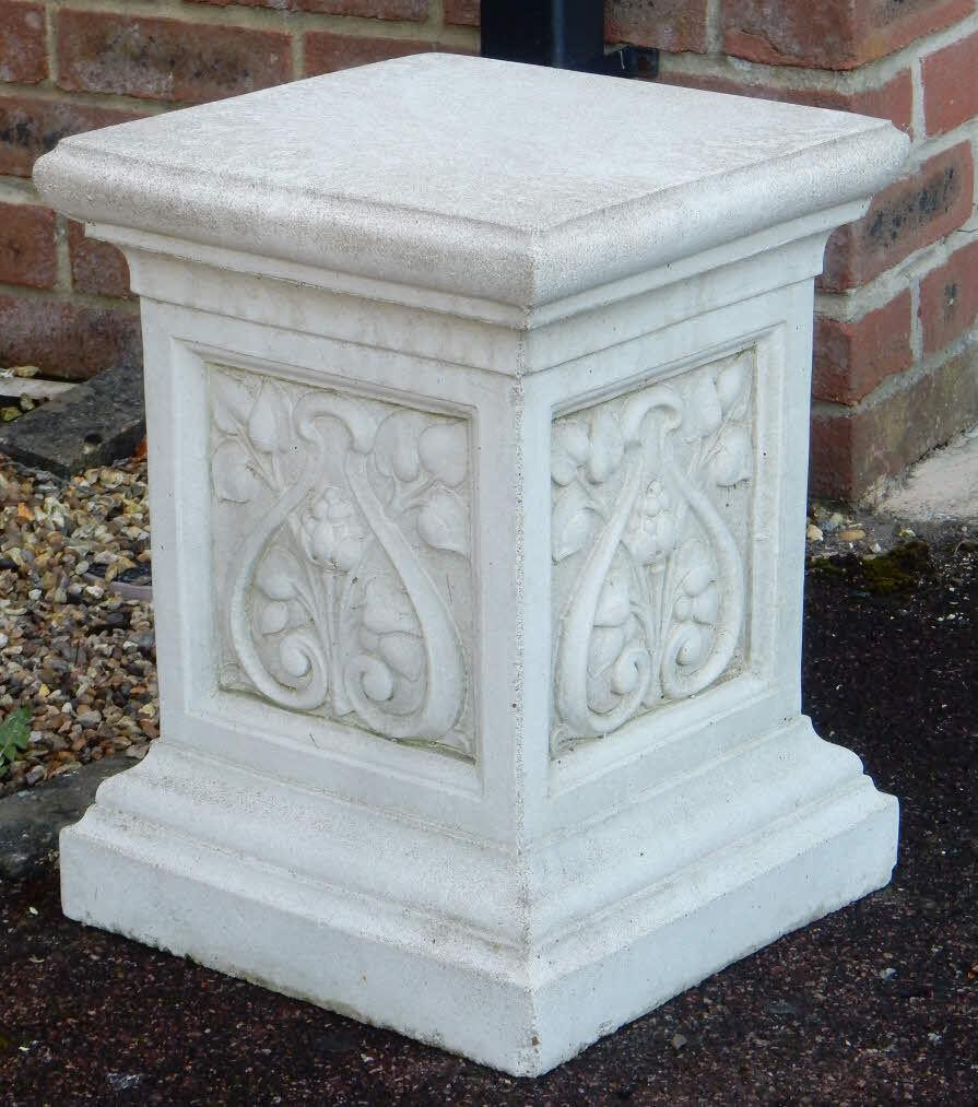 Hand Crafted Stone Garden Ornament Plinth Pedestal