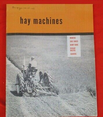 Ih Farmall Mccormick Hay Machines Sickle Mowers Sales Brochure Cub Super A C H M