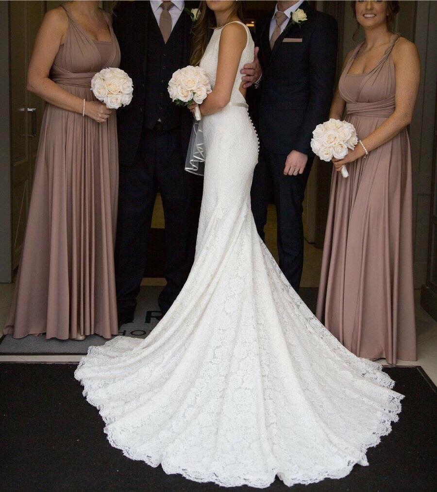 Ovias Ornani Wedding Dress Size 8
