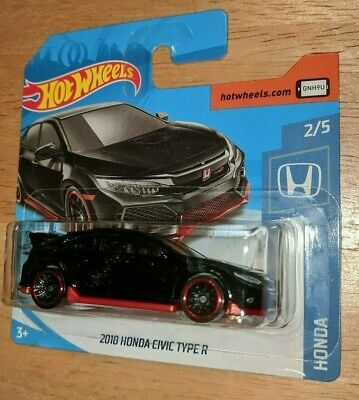 Hot Wheels - 2018 Honda Civic Type R in Red/Black Die-Cast Car on Short Card