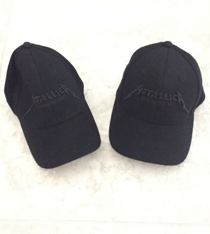 Metallica WorldWired Tour Official Concert Hat Adjustable Black Embroidered 2pc