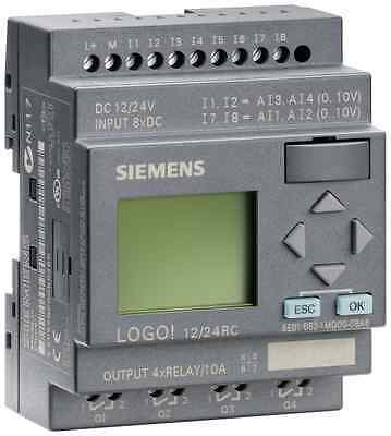 6ed1052-1md00-0ba6 Siemens Logo 1224rcplc 1224v Dcrelay 8 Di 4ai4 Do