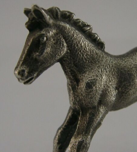 GOOD SIZED 2inch ENGLISH SOLID STERLING SILVER FOAL HORSE ANIMAL FIGURE 2001 40g