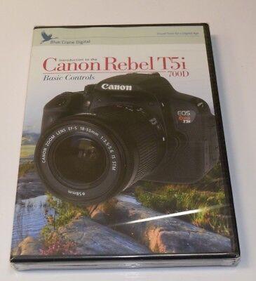 Blue Crane Digital Introduction to the Canon EOS T5i Basic Controls Training DVD Digital Blue Canon Eos