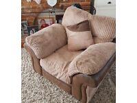 3 seater sofa + 2 armchairs & footstool