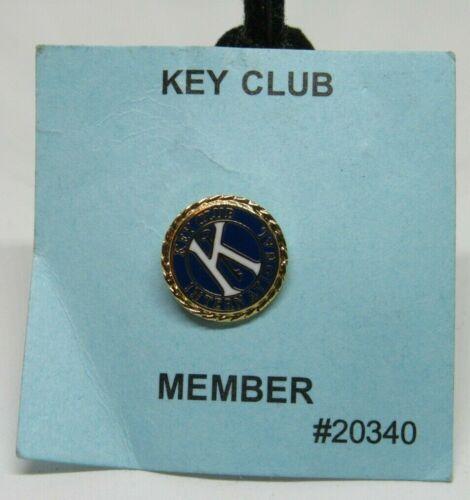 Kiwanis Key Club International Enamel Gold Student Lapel Hat Tie Pin 20340 NEW